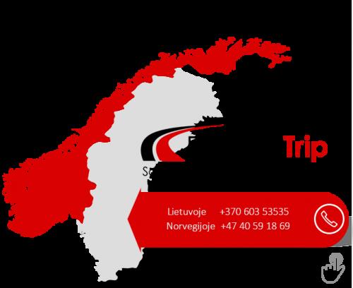Vežame į Skandinavijos šalis